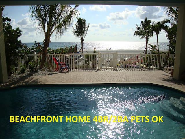 BEACH OPEN* Beachfrt4BR House*Pool*PETS OK