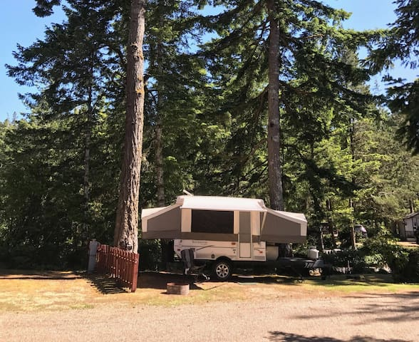 Rockwood tent trailer at the Lake