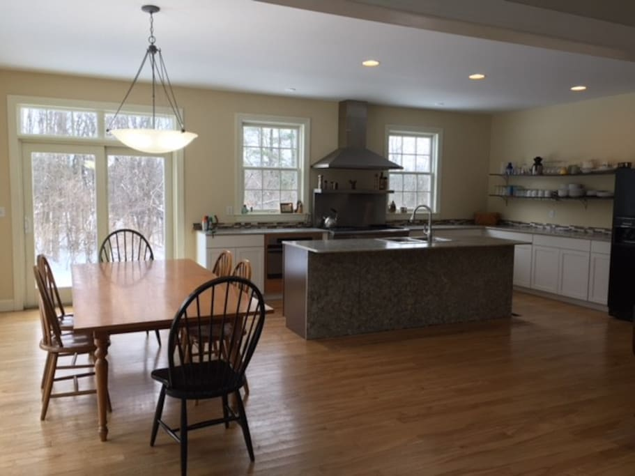 Kitchen view with farm dining table