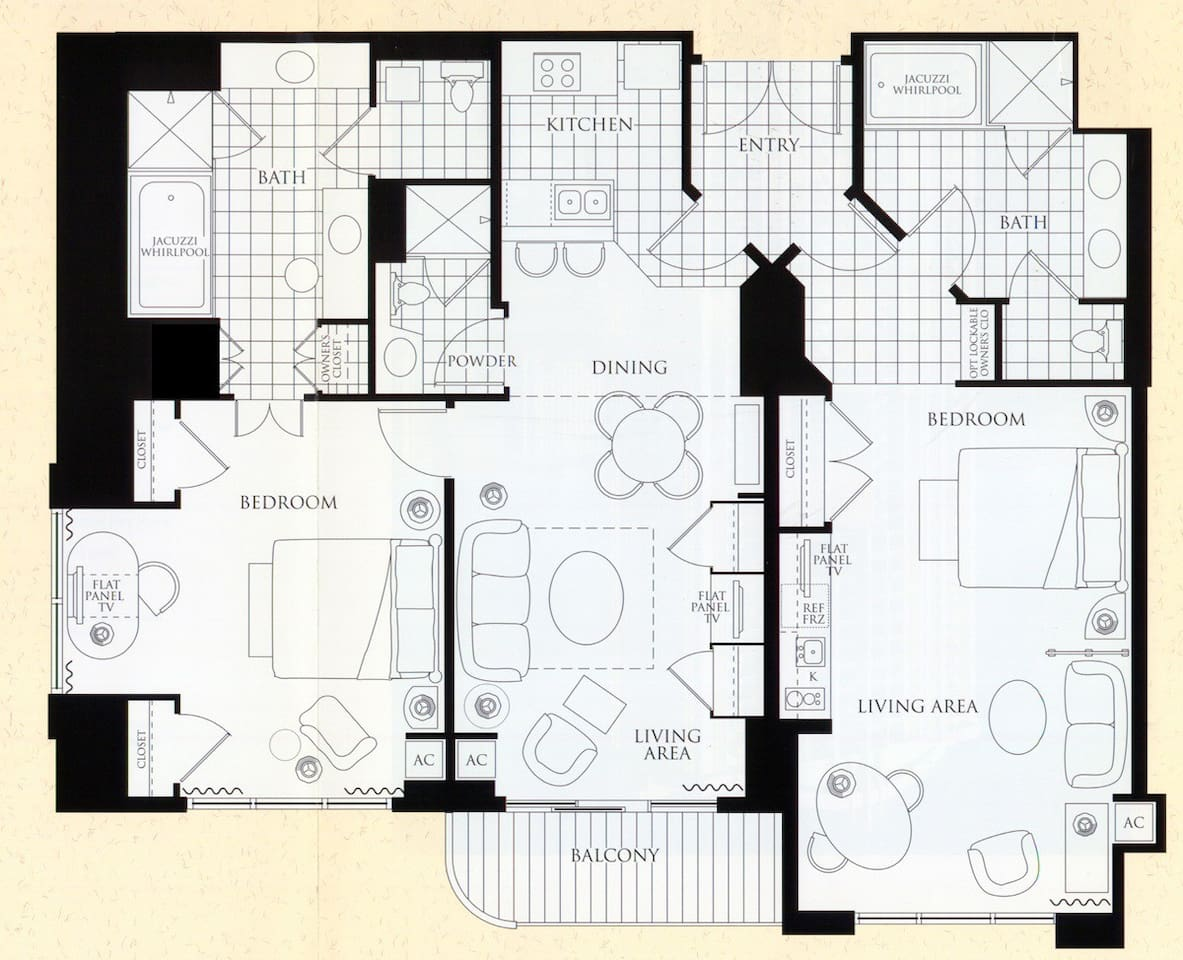 One Bedroom Balcony Suite Mgm Signature Signature Penthouse 2bd 3bath 31st Floor Tower 1 Condominiums