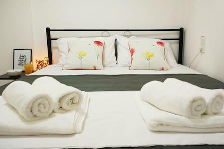 • Perfect Getaway • Cozy Apartment | 2Bd | 4Ppl - Kounoupidiana - Byt