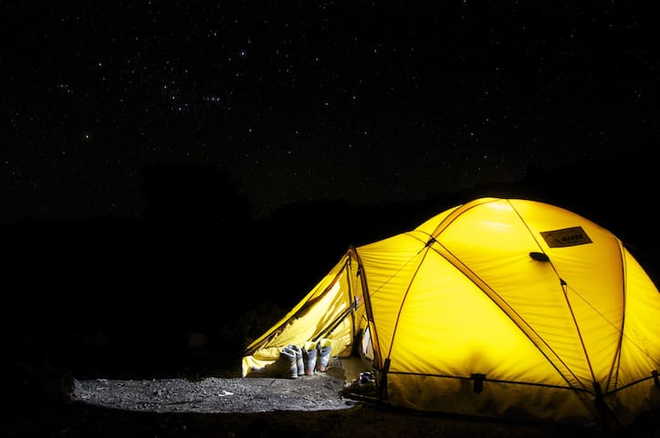 Adventure Tent Stay...with camp fire