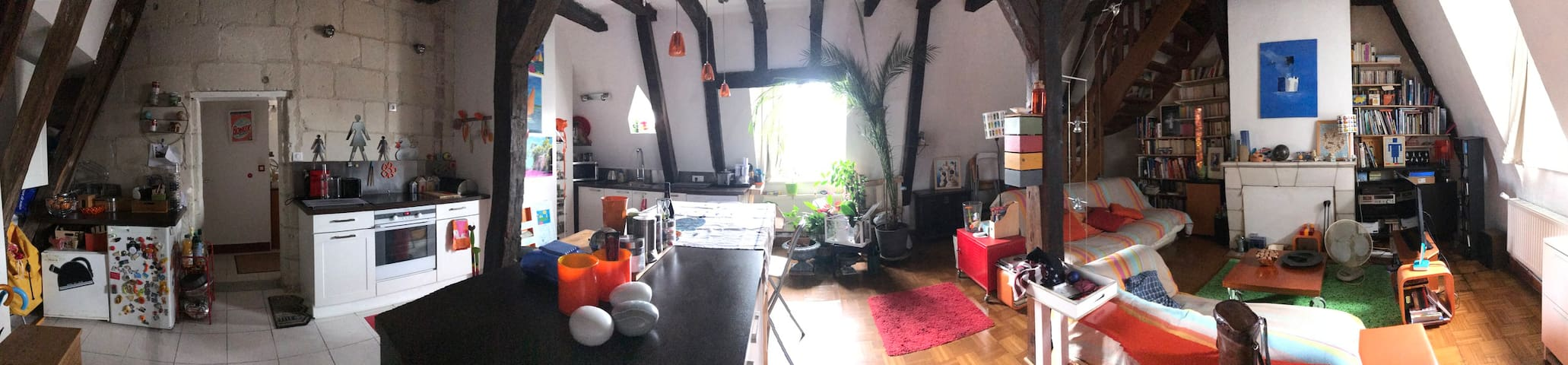 Panoramique Cuisine Salon