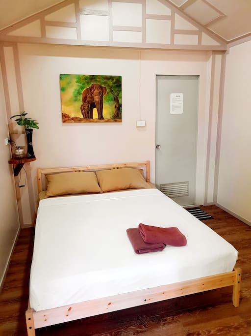 Room with all comfort: Air-con, Fan, Safty box and fridge