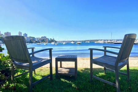 Absolute Waterfront Classic Harbour Apartment - Double Bay