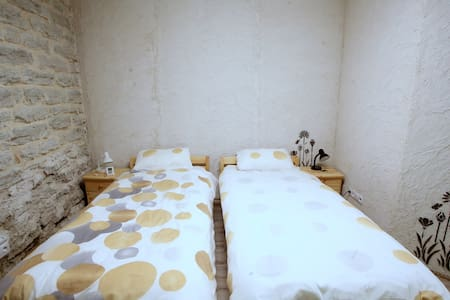 Twin room/private bathroom/shared kitchen/