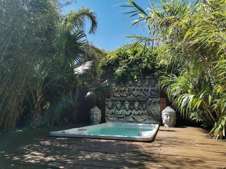 B&B Bedroom N°2  / tropical garden