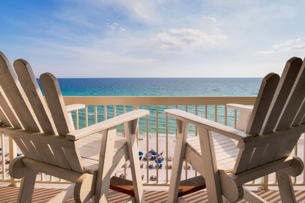 Your private balcony is a picture perfect place to take in your remarkable Panama City Beach vacation