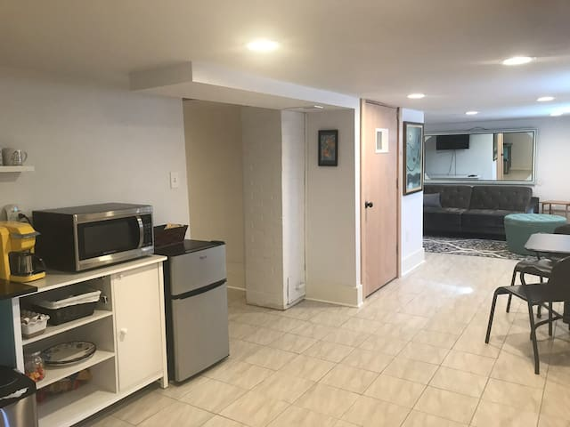 Spacious remodeled basement in downtown