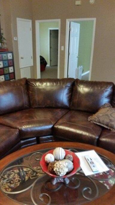 wrap around Leather couch