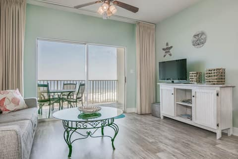 Breezy Gulf front condo w/ indoor pool, outdoor pool, & exercise room!