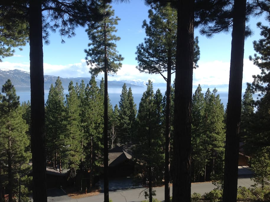 Beautiful views of Lake Tahoe.