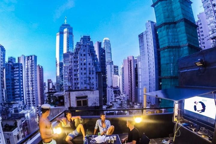Private roof top studio in the heart of SOHO - Hong Kong - Apartamento
