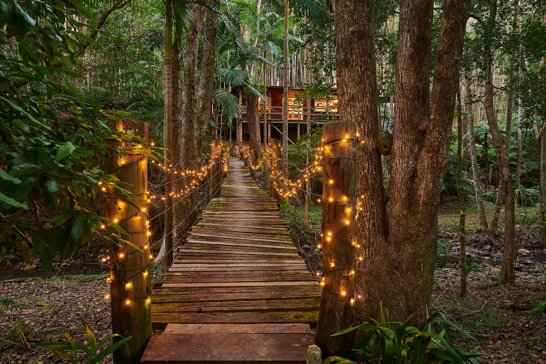 Cross the fairy lit bridge and enter a magical hideaway....