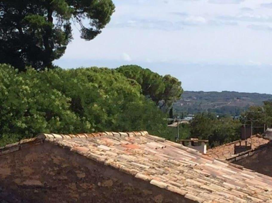 toller Ausblick von der Terrasse