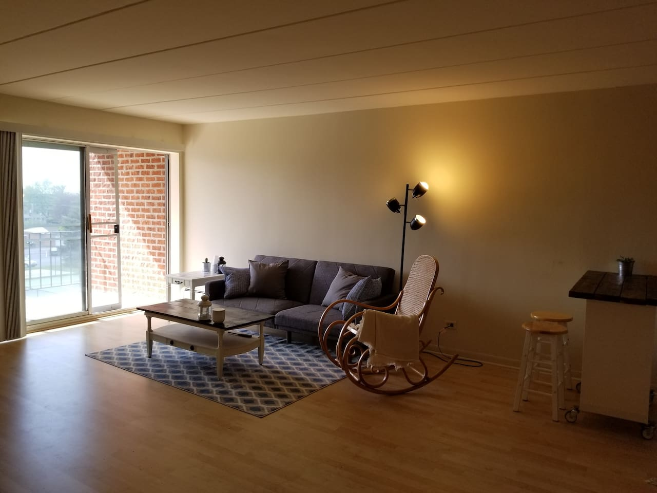 Guest will be stay at living room. We separate living room by curtain, so living room is only for guest. We have one futon which you can use as bed, and one queen size bed at living room.
