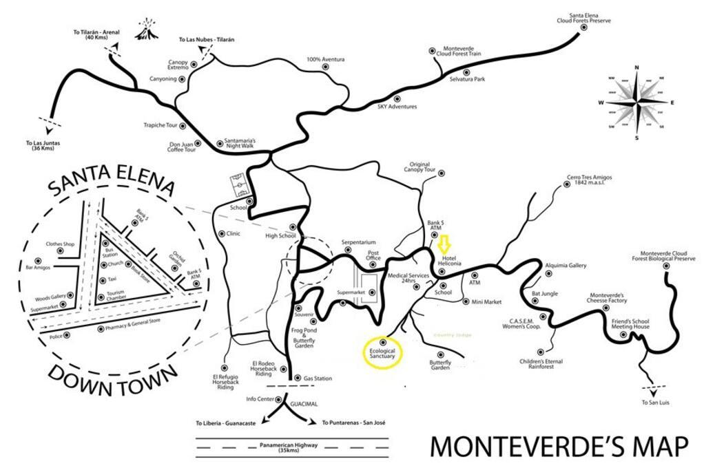 Mapa del área y nuestra ubicación