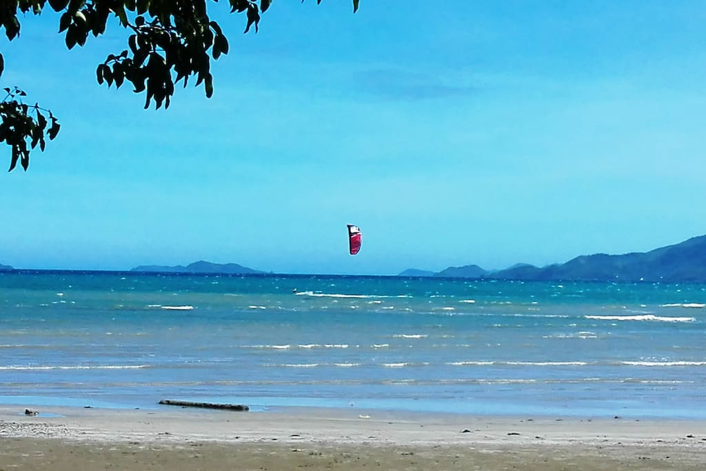 Kite surfing from November to February