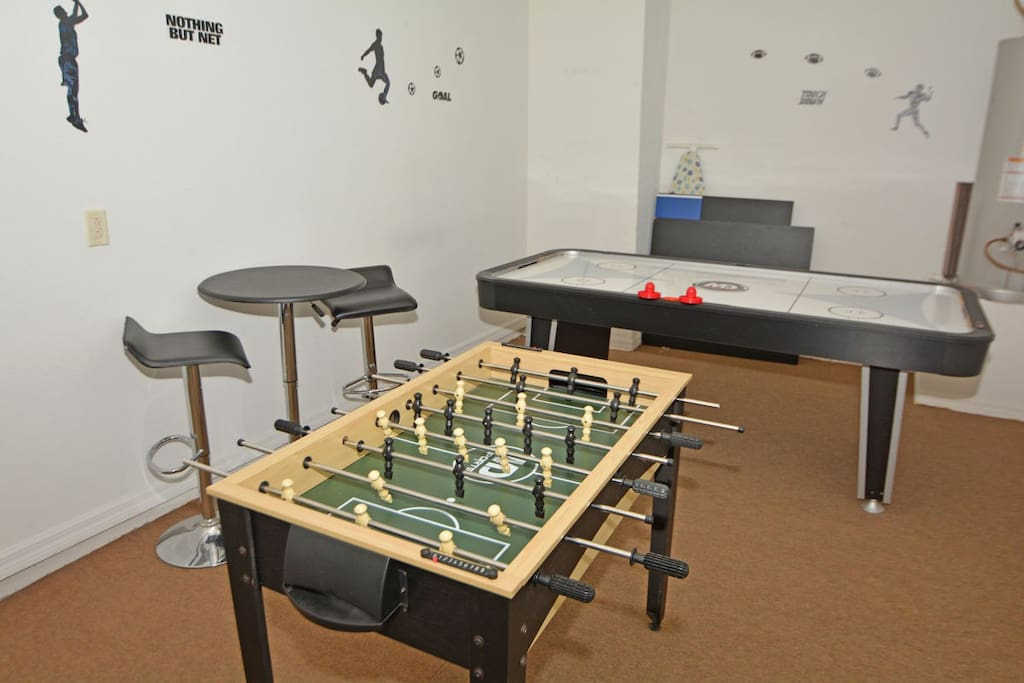 Garage has been converted to games room use, for young and old to enjoy.