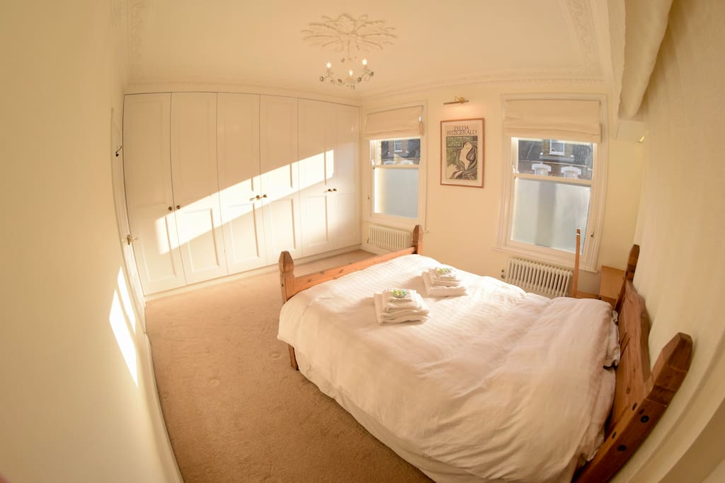 There is a great view of our quiet, tree lined street through the double glazed sash windows