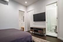 55 inch TV in Bedroom
