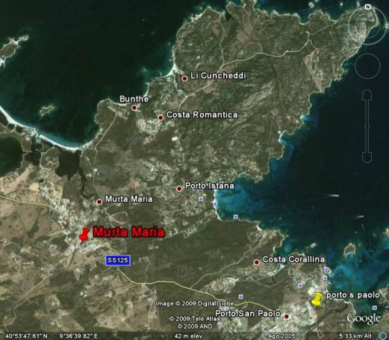 mappa della zona - map of the area