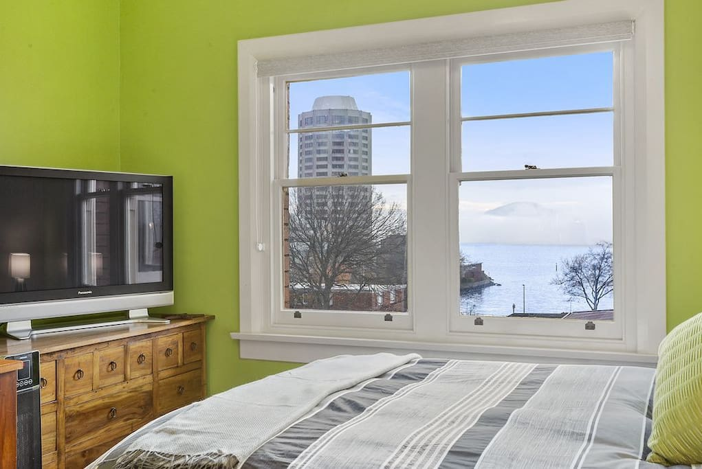 View of Wrest Point Casino and the Derwent River from master bedroom...