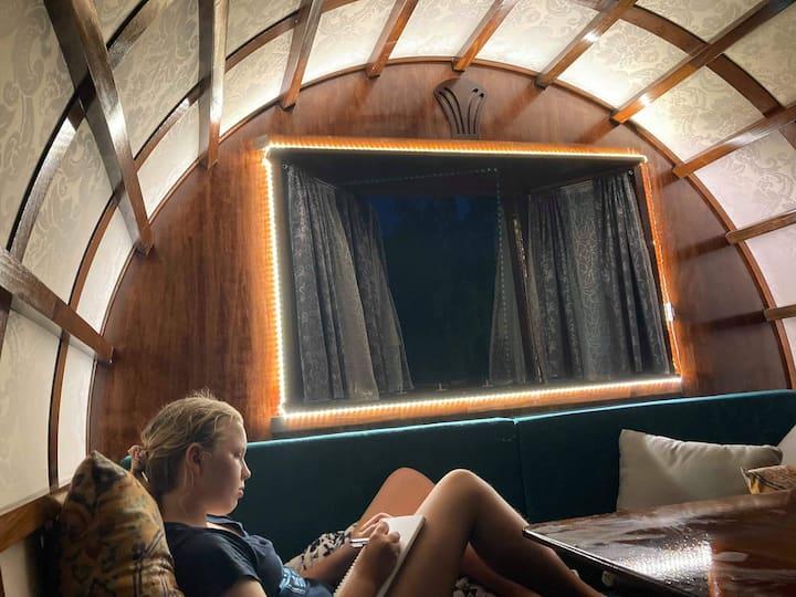 Gypsy Wagon glamping in Sunshine Coast hinterland