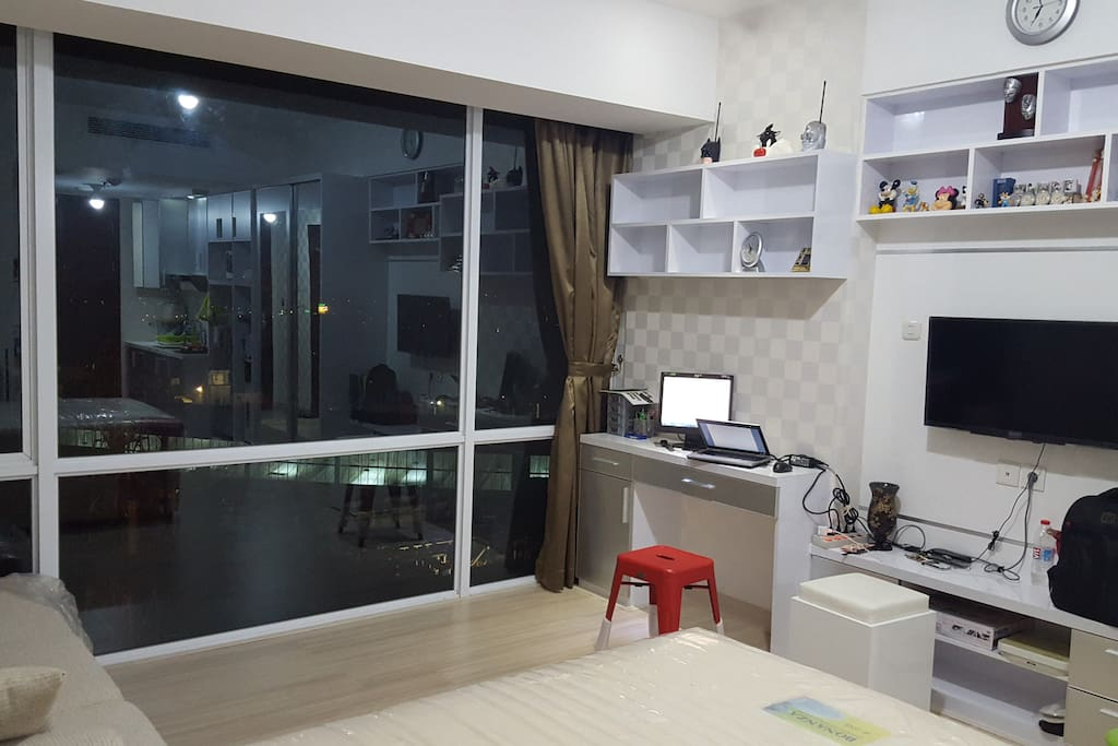 Working area and TV