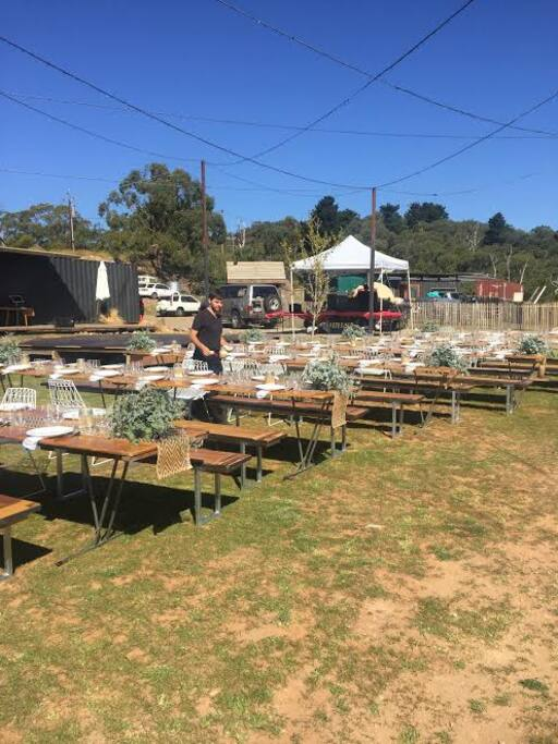 Wedding set up - Tables