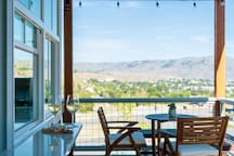 Sweeping views of Lake Chelan and downtown