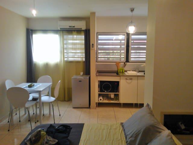 Accueillant Studio meuble en centre ville - Cayenne - Flat