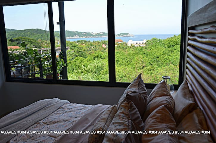 One of a kind custom master bedroom with amazing views of bays