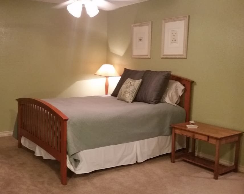 Enjoy your private room with queen bed in the guest wing.
