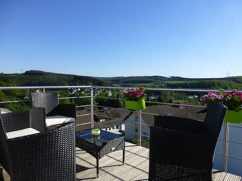 90m² Ferienwohnung über den Dächern Wilnsdorf-Anzh