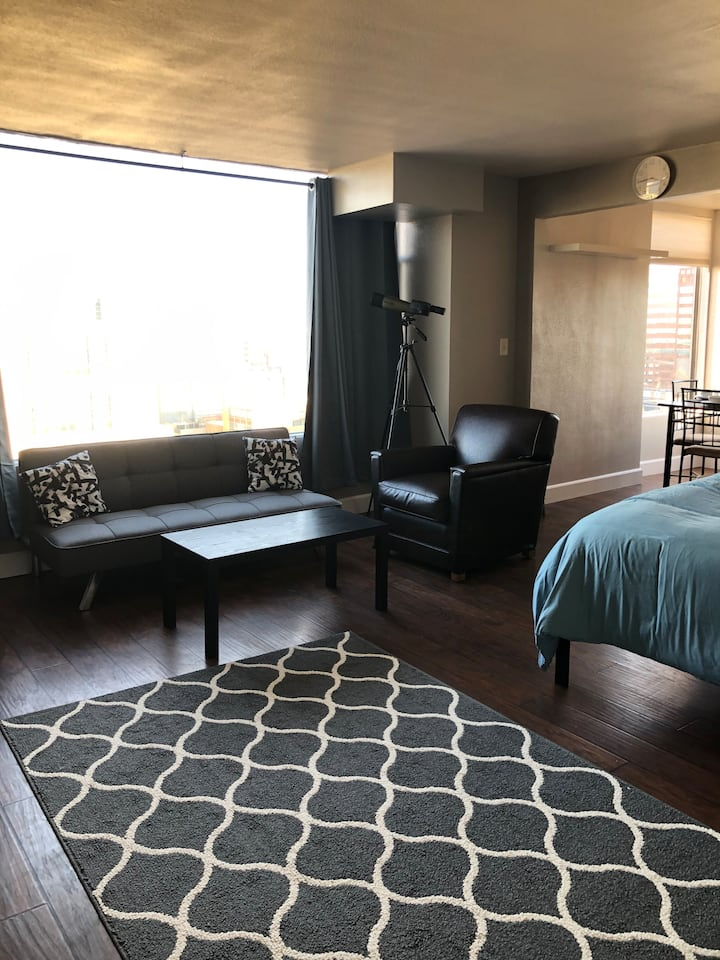 DT Reno High-rise Studio Apartment with River View