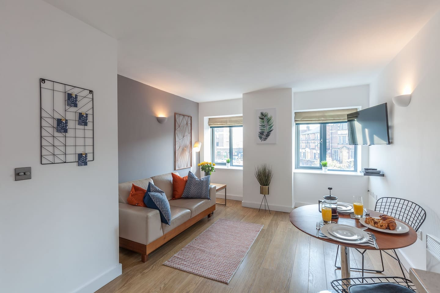 Stunning lounge in our 1 bed standard apartment.