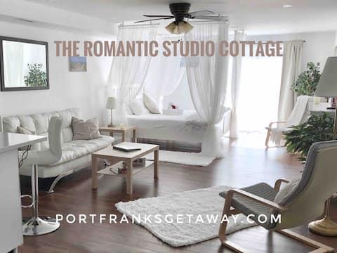 Romantyczny domek typu studio, jacuzzi, sauna, turystyka piesza