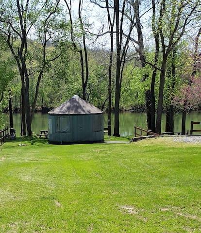 Cherokee Rose Yurt @ #1 Rock Tavern River Kamp