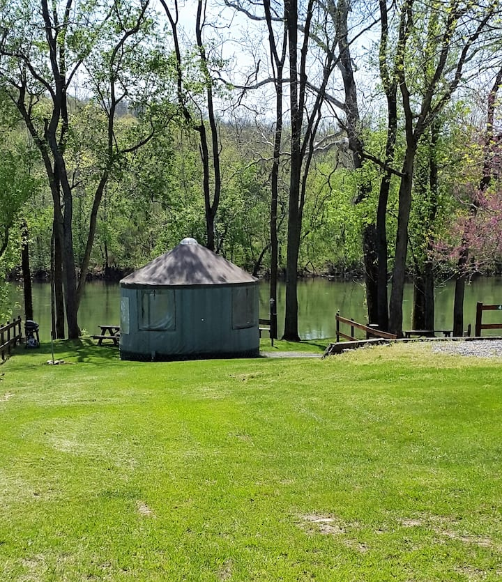 Cherokee Rose Yurt @ #1 Rock Tavern River Kamp