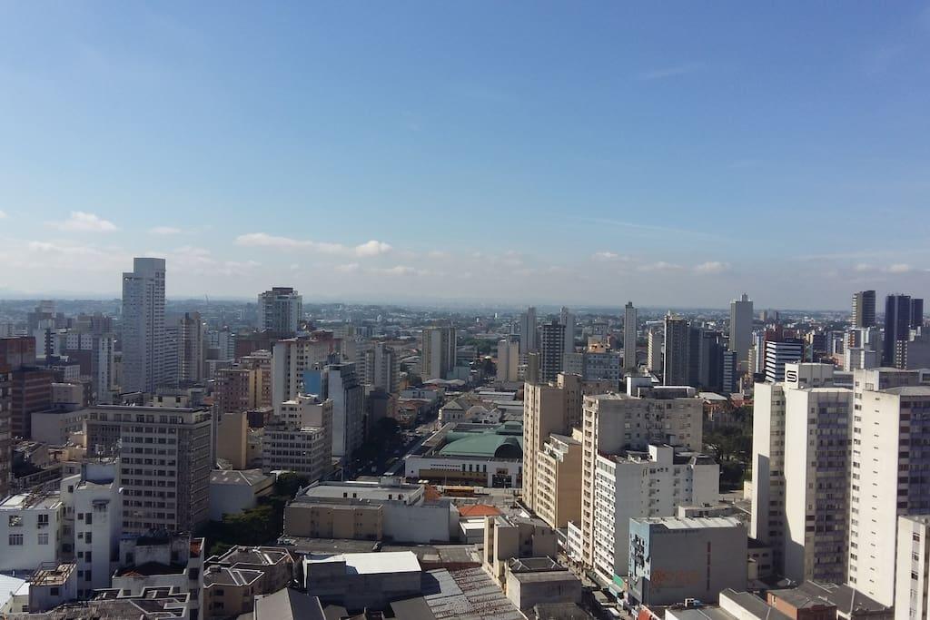 Vista da Sacada - Linda Panorâmica da Cidade
