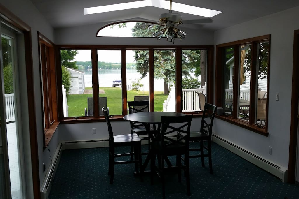 Panoramic views and natural light in the sun room.