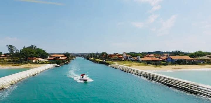 Casa - Búzios - Mar - deck para lanchas e Jet Ski