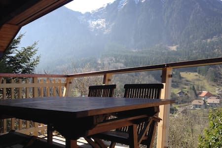 Chalet with a lot of charme and amazing view - Thollon-les-Mémises - Talo