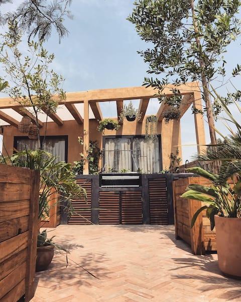 Jungle Studio con amplia terraza y asador