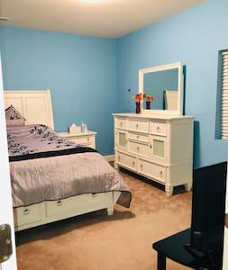 Beautiful bedroom! Walk-in closet & open basement
