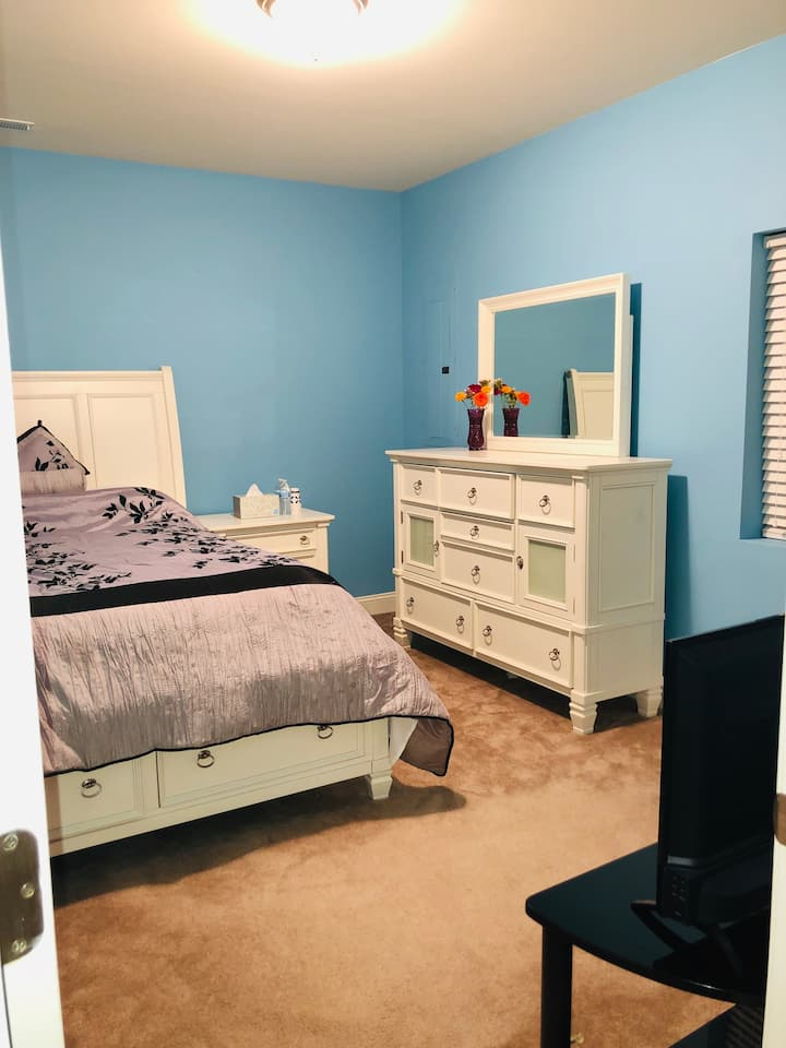 Beautiful bedroom! Walk-in closet & open basement