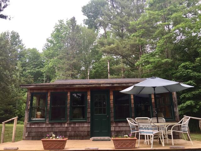 Cabin updated, 2016-17...New deck