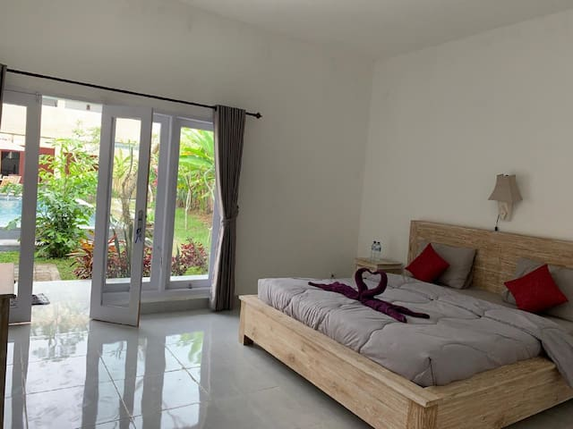 2 Cozy Deluxe DBL Room with Pool View @Ubud