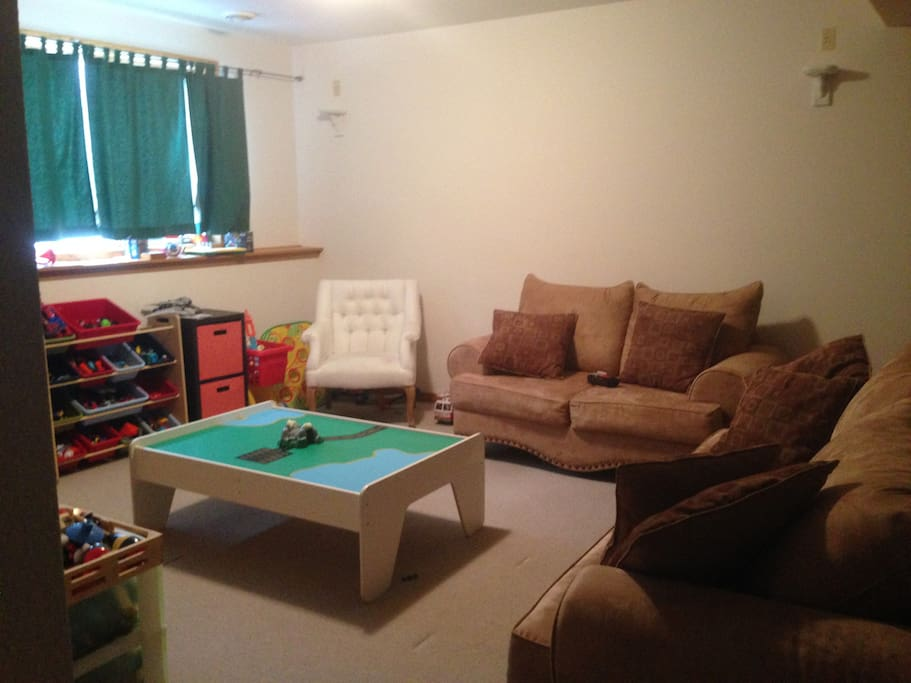 spacious private living area and playroom